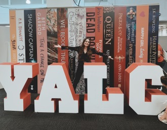 Begged someone to take this for me because you can't go to YALC and not get this picture!